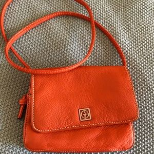 Gianni Bini Orange Leather crossbody